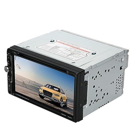 KKmoon 7 pouces 2 Din Voiture Bluetooth Stéréo DVD Lecteur CD Universelle avec HD écran Tactile Radio Divertissement Multimédia USB/ TF FM Aux TV d'entrée