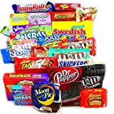 XLarge American Sweet Hamper Candy/Chocolate/Wonka/Nerds Christmas/Birthday Gift - in a Retro Metal Red Tin - Version 2
