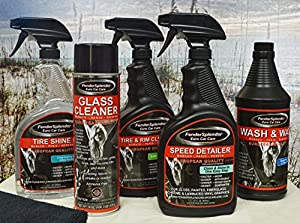FenderSplendor Euro Car Care Platinum Package ... ... Now GET FREE SHIPPING on All Orders Over $35! - Includes 1- 32 oz. Tire Shine, 1- 32 oz. Speed Detailer, 1- 32 oz. Tire and Rim Cleaner, 1- 32 oz. Wash & Wax, 1- 19 oz Glass Cleaner and 4 - High Qualit