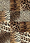 Creative Home Safari Area Rug 42026-77 Brown Checkered Cheetah Animal Print 7' 10