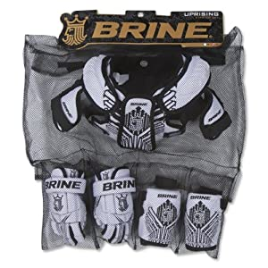 Brine Lacrosse Uprising Starter Set-Shoulder Pad, Arm Pads, 12-Inch by Brine
