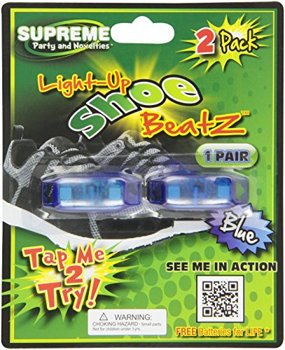 Supreme Party & Novelties LED Shoe Beatz, Blue