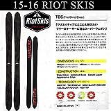 RIOT(ライオット)スキー RIOT SKIS TBS The Blind Steez ティービーエス 15-16 スキー単品 フリースタイルスキー 板 160cm