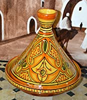 Moroccan Handmade Serving Tagine Exquisite Ceramic With Vivid colors Traditional 10 inches Across from Treasures of Morocco