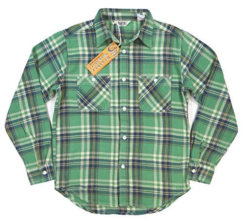 (ファイブブラザー)FIVE BROTHER 長袖 チェック ヘビーネルシャツ 1515082 Made in INDIA