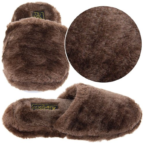Image of Brown Slip On Slippers for Women (B00415HQUM)