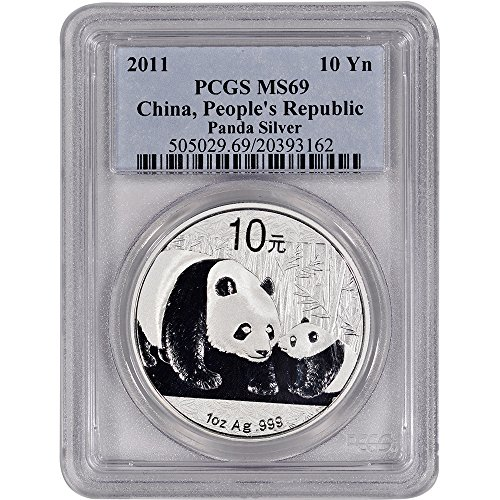 2011 China Silver Panda 10 Yn MS69 PCGS
