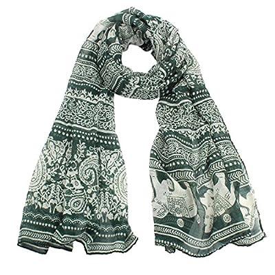 Coromose Ladies Neck Stole Elephant Print Long Scarf Shawl Wrap