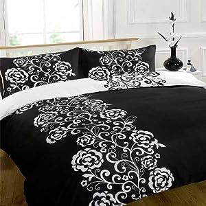 dreamscene parure housse de couette 2 personnes. Black Bedroom Furniture Sets. Home Design Ideas