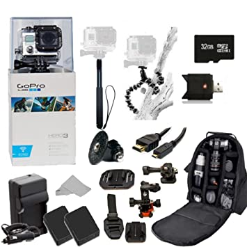 GoPro Hero3 Black Edition ATV Bike Helmet Kit Kit