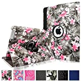 Cellularvilla 360 Degree Rotating Black Pink Flower Pu Leather Flip Folio Stand Case Cover for iPad with Retina Display (iPad 4th Generation), the new iPad 3 / iPad 2 (Automatic Wake/Sleep Feature) Reviews