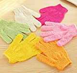 HOKIPO Bath Glove, 1 Pair, Random Colors