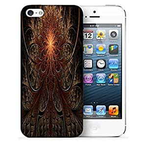 Snoogg Fractal Lines Abstract Printed Protective Phone Back Case Cover For Apple Iphone 5 / 5S