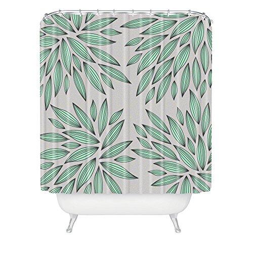 Deny Designs Gabi Mint Shower Curtain front-390673