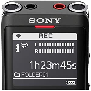 Sony ICD-UX570 Portable Digital Voice Recorder w/Stereo Microphone & More Bundle