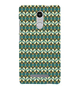 iFasho Animated Pattern design colorful flower in royal style with lines Back Case Cover for REDMI Note 3