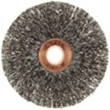 Weiler Copper Center Wire Wheel Brush, Round Hole, Steel, Crimped Wire, 3 Diameter, 0.0118 Wire Diameter, 1/2-3/8 Arbor, 1 Bristle Length, 5/8 Brush Face Width, 20000 rpm Size: 3 Model: 15563 (Hardware & Tools Store)
