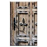 Single-Gang Blank Wall Plate Cover - Door Ornament Wooden Door Input Decorated