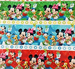 Disney39s Mickey Mouse and Friends Officially Licensed Wrapping Paper Gift Wrap Roll - 40 Square Fee