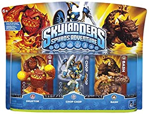 Skylanders: Spyro's Adventure - Triple Character Pack - Chop Chop, Bash and Eruptor (Wii/PS3/Xbox 360/PC)
