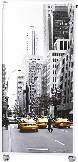 Simmob ORGA140BLB504 Scene New York 504 Armoire Informatique avec 2 Tiroirs Bois Blanc 53,1 x 65,2 x 139,9 cm