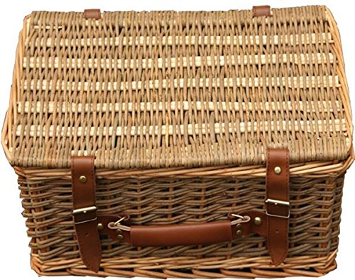 Picnic Basket Lakeland : Cm double steamed green willow empty picnic basket