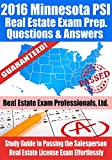 2016 Minnesota PSI Real Estate Exam Prep Questions and Answers: Study Guide to Passing the Salesperson Real Estate License Exam Effortlessly