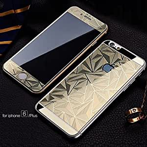 ScratchfreeUltra Electroplated Mirror Finish Glossy Brushed Metal Effect Coloured 3D Diamond Front & Back Tempered Glass For Apple iPhone 4,4S