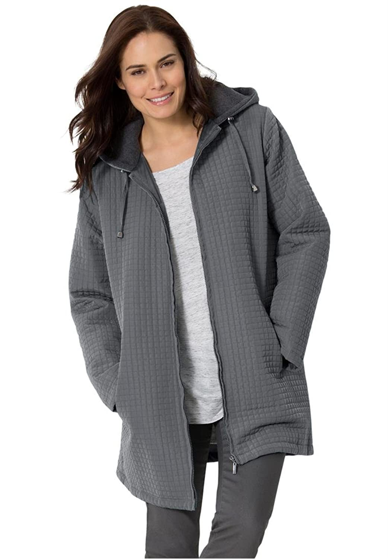 Women's Plus Size Jacket In Lightweight Mini Quilt из США