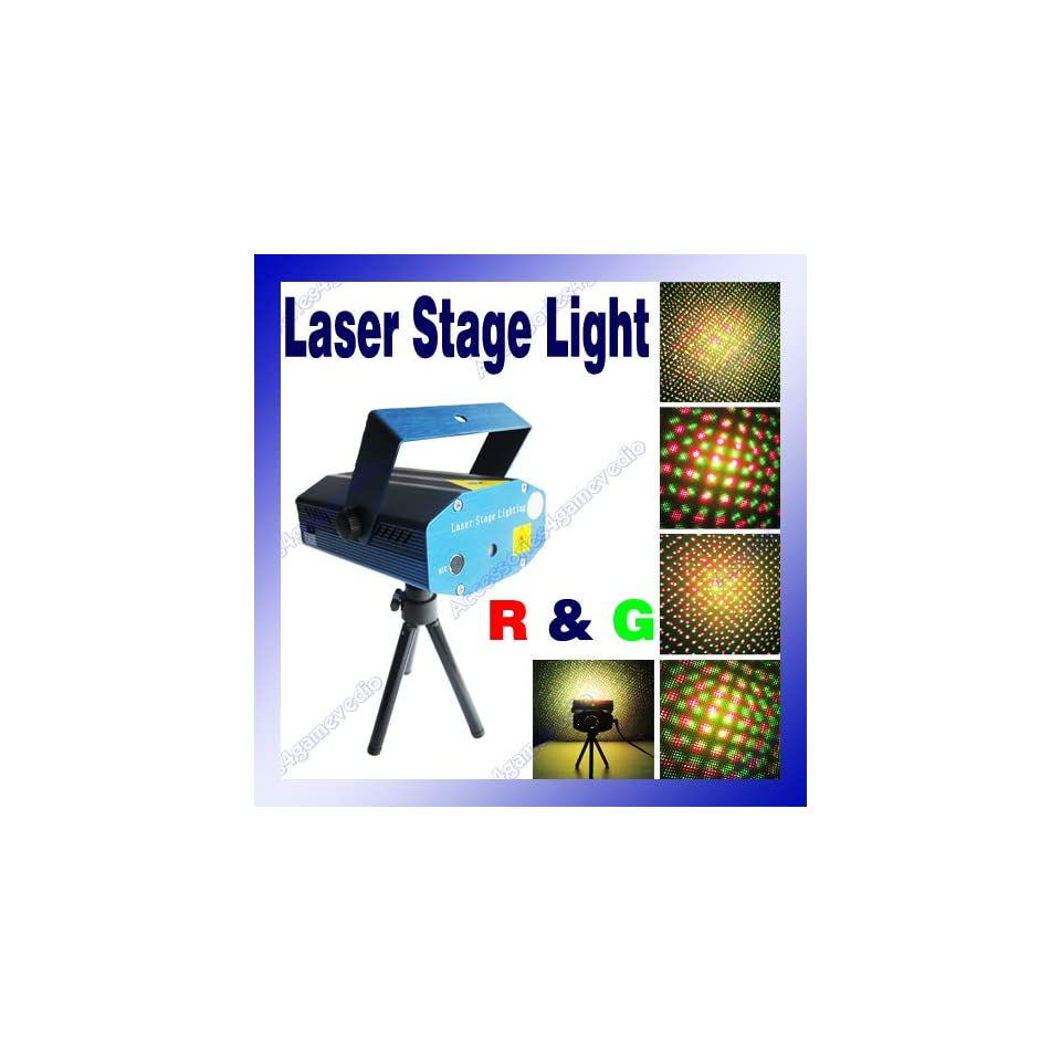 Mini Laser Stage Lighting Projector(Red & Green, Laser