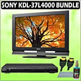 Sony Bravia L-Series KDL-37L4000 37-inch 720P LCD HDTV + Sony DVD Player w/ Accessory Kit