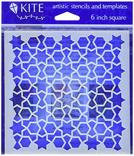 judikins-judikins-kite-stencil-15-cm-square-mystical-lattice-in-acrilico-multicolore