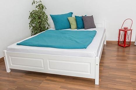 Tagesbett / Gästebett Kiefer massiv Vollholz weiß lackiert 77, inkl. Lattenrost - Abmessung 160 x 200 cm