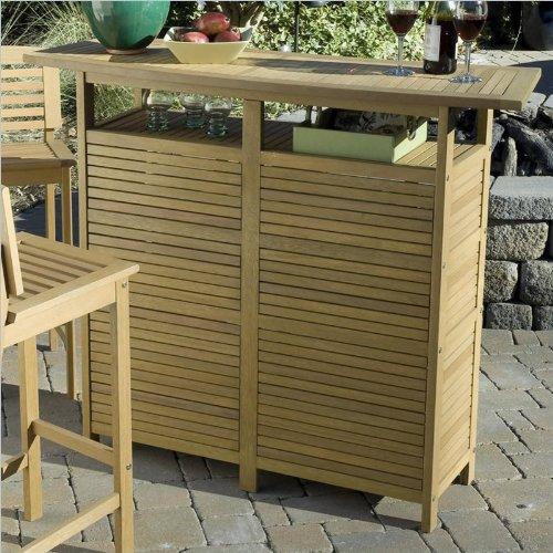 Home Styles Bali Hai Bar Cabinet in Natural