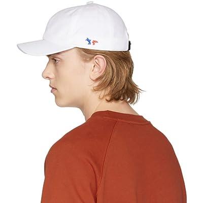 Maison Kitsune メンズ 帽子 キャップ White Fox Logo Cap [並行輸入品]