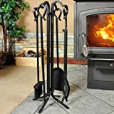 Uniflame F-11140 5-Piece Black Wrought Iron Toolset