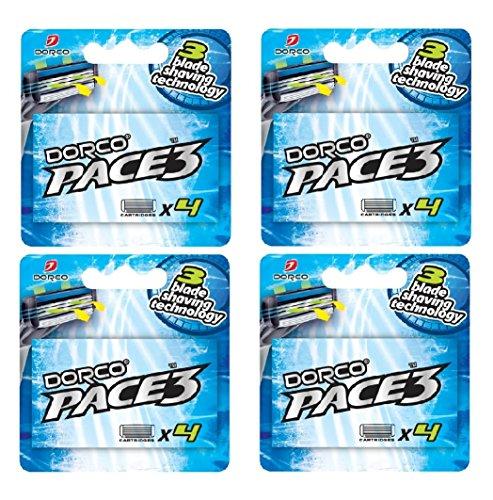 dorco-pace-3-razor-manual-blades-for-men-safe-sensitive-shaving-system-16-blades