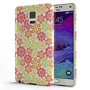 Koveru Back Cover Case for Samsung Galaxy Note 4 - Flower Etsy Pattern