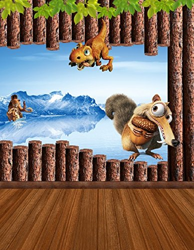 6.5 Ft*5 Ft (200cm*150cm) Fundo Dinosaurs Ice Age Squirrel 3d Baby Photography Backdrop Background Photo Studio K-029