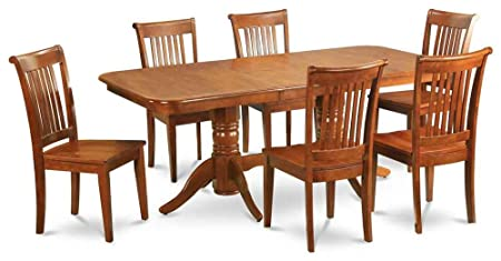 Pedestal Dining Table with 6 Chairs