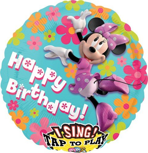 "Minnie Sing-a-tune 28"" Mylar Balloon"