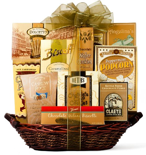 Wine.com The Golden Gourmet Gift Basket