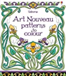 Art Nouveau Patterns to Colour