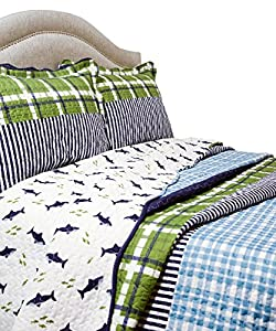Pegasus Home Fashions Vintage Collection Royce Quilt/Sham Set, Full/Queen