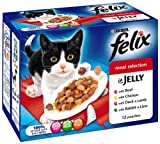 #7: Felix Pouch Meat Selection in Jelly 12 x 100 g (Pack of 4, Total 48 Pouches)