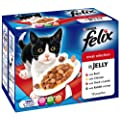 Felix Pouch Meat Selection in Jelly 12 x 100 g (Pack of 4, Total 48 Pouches)