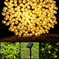 LightsEtc Solar String Lights Fairy Lamp Outdoor Lighting with Pure Wire for Gardens Homes Christmas Party Decoration