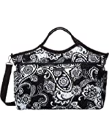 Vera Bradley Luggage Women's Carryall Travel Bag Midnight Paisley Duffel Bag