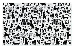 FRINGE STUDIO Dog Silhouette Pet Mat, 21 x 13\