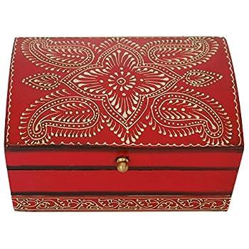 Chest Decorative Wood Keepsake Storage Jewelry Storage Box